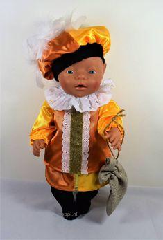 43918 Pietenpak met rokje oranje/geel | Nappi.nl