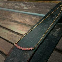 Pink Fluorite Bar Necklace by BohoBabeShop on Etsy https://www.etsy.com/listing/384405218/pink-fluorite-bar-necklace