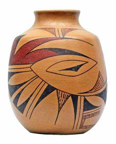 Harrison Jim, Hopi Design Pottery, Jar, Handmade, 5.5 in x 4.25 in - $95.00