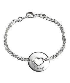 Another great find on #zulily! Sterling Silver Personalized Poem Heart Charm Bracelet #zulilyfinds