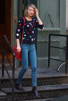 25 Taylor Swift's Best Street Style 2015 Looks - UK Fashion Taylor Swift Outfits, Taylor Swift Style Casual, Estilo Taylor Swift, Taylor Alison Swift, Taylor Swift Fashion, Street Style 2014, Casual Street Style, Oufits Casual, Casual Outfits