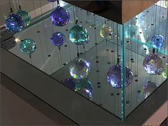 This Swarovski Crystal Branded Ball Hang could be used as a display of leaded crystal art anytime and any season not just the Christmas Holiday. Crystal Ball, Visual Merchandising, Close Up, Christmas Holidays, Balls, Swarovski Crystals, Display, Home Decor, Crystals