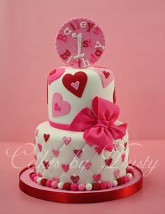 Valentine birthday cake. I wouldn't use it as a birthday cake; just a cake for the holiday. So cute.