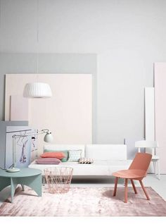 Billowing Clouds- Behr Cool gray to Soft blue