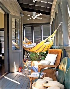 hammock inside YES YES AND YES@ i want this patio too.