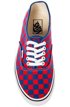 Authentic Sneaker in Golden Coast Blue & Red Checker $35 at Brick Harbor   #vans #fall14