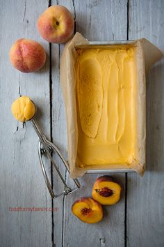 Peach Sorbet from @Shaina Olmanson | Food for My Family #AggiesBaby