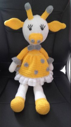 maya plush giraffe 67 cm acrylic washable a 30 degree padding anti mite Crochet For Kids, Diy Crochet, Crochet Crafts, Crochet Dolls, Yarn Crafts, Crochet Baby, Crochet Projects, Sewing Crafts, Giraffe Crochet