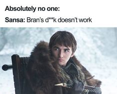 The best 'Game of Thrones' memes that fans are making between the epic battles, holy-crap sex scenes, and tragic deaths. Here are the best hilarious GOT memes. Game Of Thrones Facts, Game Of Thrones Quotes, Game Of Thrones Funny, Got Memes, Funny Memes, Hilarious, All My Friends Are Dead, Night King, Hbo Series