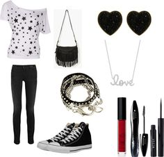"""""""blanco y negro"""" by mar-leguizamon ❤ liked on Polyvore"""
