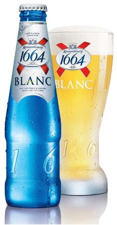 Brasseries Kronenbourg - Kronenbourg Blanc. I love this beer so much, why can they not sell it in the UK????