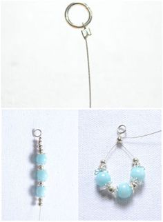 arrange the beads on wire for one earring