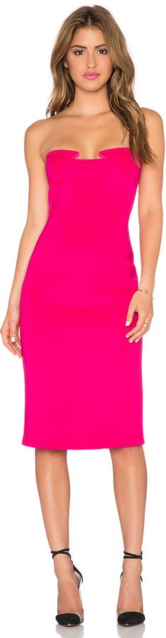 Pink Strapless Dress. This would be a great wedding guest dress for a spring or summer wedding