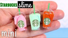 DIY Miniature Starbucks with Slime plus Miniature slime supplies: miniature laundry detergent and acrylic paint [NO BORAX]. I make slime with just glue a. Diy Notebook, Notebook Covers, Decorate Notebook, Starbucks Slime, Starbucks Crafts, Slime Kit, Diy Slime, Diy Crafts For Kids, Fun Crafts