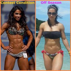 Even Fitness competitors don't look shredded year round. LIFTmeupFitness.com | Strong body, Strong mind. Get fit without losing your sanity!