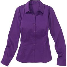 Purple long-sleeve button-down shirt