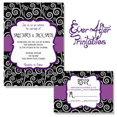Nightmare Before Christmas Inspired Wedding Invitation