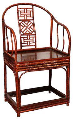 Antique Chinese Horseshoe-Back Armchair | One Kings Lane