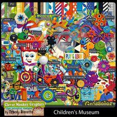 Oscraps :: Shop by Designer :: Clever Monkey Graphics :: Children's Museum by Clever Monkey Graphics