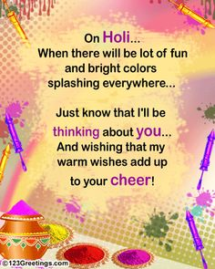Happy Holi 2016 Greetings