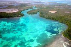 Laguna de Bacalar.....la laguna de los 7 colores