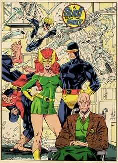Original X-Men by Jim Lee - This was my favorite of the centerfolds offered in X-Men variants. Jean Grey looks amazing in this image, I'm pretty sure it took me years to discover the other X-Men were even there. Disney Marvel, Hq Marvel, Marvel Comics Art, Marvel Girls, Marvel Heroes, Magik Marvel, Comic Book Artists, Comic Book Characters, Comic Artist