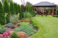 Small Yard Landscaping, Privacy Landscaping, Farmhouse Landscaping, Front Garden Landscape, House Landscape, Landscape Design, Backyard Garden Design, Small Garden Design, Beautiful Gardens