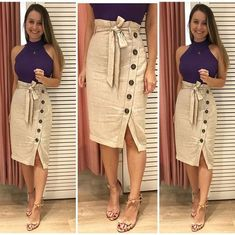 Swans Style is the top online fashion store for women. Shop sexy club dresses, jeans, shoes, bodysuits, skirts and more. Skirt Outfits, Chic Outfits, Trendy Outfits, Dress Skirt, Shirt Dress, Cute Skirts, Cute Dresses, Modest Fashion, Fashion Dresses