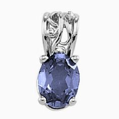 Platinum Oval Cut Iolite Pendant Gems-is-Me. $622.09. This item will be gift wrapped in a beautiful gift bag. In addition, a 'gift message' can be added.. FREE PRIORITY SHIPPING. Also available for other size gemstones.