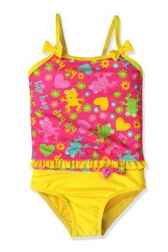 1deb9588a4 Look at this Jump'N Splash Pink & Yellow Tankini - Toddler & Girls on today!