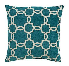 Spencer Industries Linked Tile Teal Decorative Pillow | Everything Turquoise