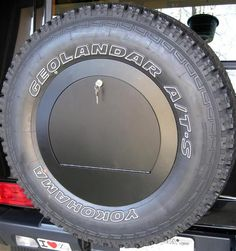 Rear Spare Wheel Cover with Lockable Compartment for Mercedes Gwagen