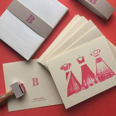 South Asian Inspired Bridesmaids Cards! Customizable for color