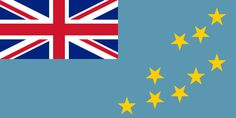 The flag of Tuvalu was officially adopted on October 1, 1978.     The Union Jack (upper left) reflects Tuvalu's long association with Great Britain. The nine gold stars are symbolic of the nine islands within its borders.