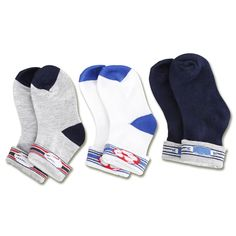 Ricochet Kidswear 3 Pack Infant Socks - The Baby Factory. 1-2 years. From Por Por and Kong Kong.