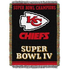 NFL 48 inch x 60 inch Commemorative Series Tapestry Throw, Chiefs, Multicolor