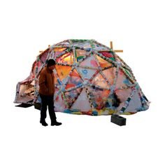 Mad dome design on this tent. Not sure how you'd put it up?