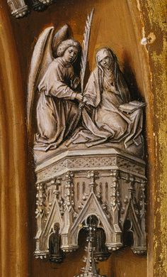 Juan de Flandes, Detail, Christ Appearing to His Mother, c. 1496