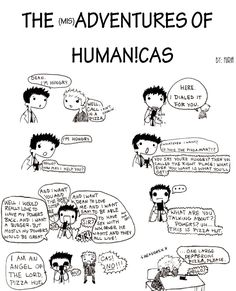 The (mis)Adventures of Human!Cas: Ordering Pizza - furia - Supernatural, destiel - Fandom [Archive of Our Own]