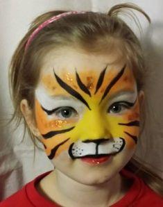 Tutorial Einfacher Tiger - Makeup Tutorial Over 40 Tiger Face Paint Easy, Tiger Face Paints, Face Painting Tutorials, Face Painting Designs, Maquillage Halloween, Halloween Face Makeup, Tiger Makeup, Hobbies For Women, Kids Makeup