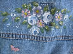 Denim Jacket Upscaled Toddler Painted One to от mailordervintage