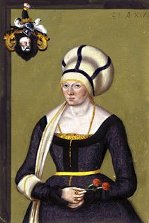 German style, the yellow kirtle is likely a side laced kirtle with a wide square neckline. The overdress or kampfrau uses the same pattern with a scoop neckline and a closed front lacing or hooks. Renaissance Image, Renaissance Clothing, Renaissance Fashion, 1500s Fashion, Renaissance Portraits, Historical Costume, Historical Clothing, German Style, 16th Century Clothing