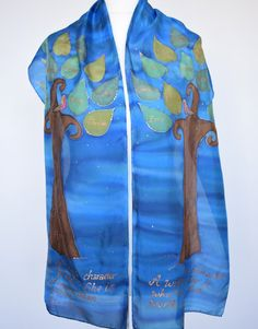Tree of Family Life Scarf family tree scarf Mother's by silkiness