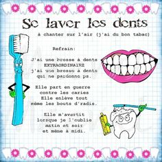 se laver les dents Teaching French Immersion, French Poems, Home Schooling, Learn French, Dental Health, Dentistry, Happy Life, Preschool, Human Body