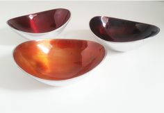 Fairtrade Recycled Aluminium Set of 3 Small Oval Bowls Mixed Autumnal Colours £18.00