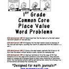 Meet First Grade's Common Core math standards with these math journal entries! This packet contains 10 pages of teacher friendly math journal pro...