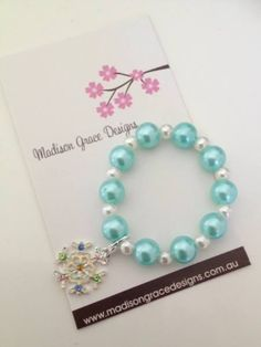 Frozen inspired party favors.  bracelets are perfect for a Frozen birthday party theme.
