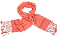 Handwoven cotton scarf from Thailand