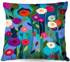 Good Morning Sunshine Flowers Throw Pillow