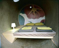 Room in a concrete tube in Austria.